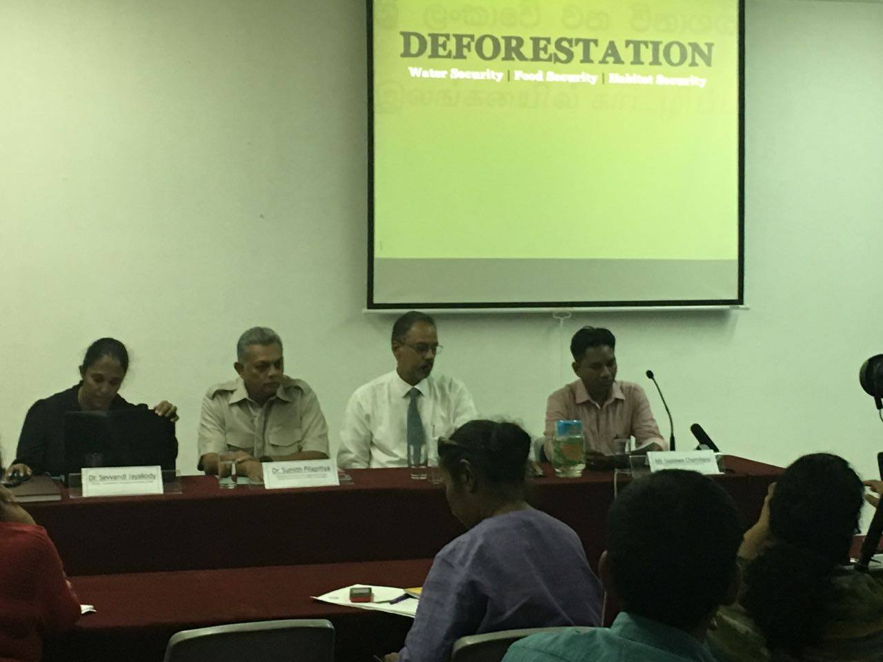 Press Conference on Deforestation in Wilpattu Forest Complex