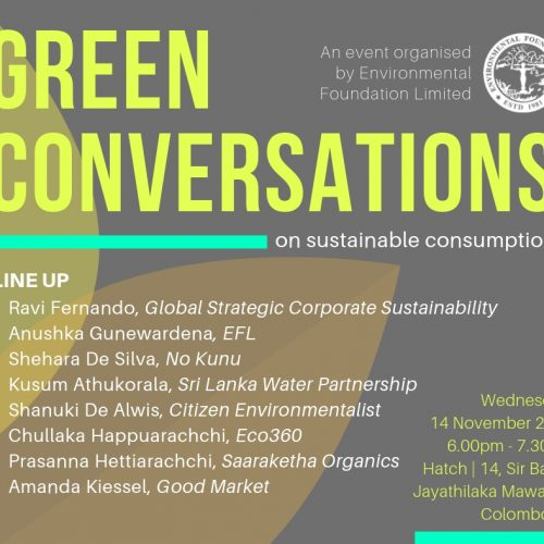 Green Conversations- Sustainable Consumption