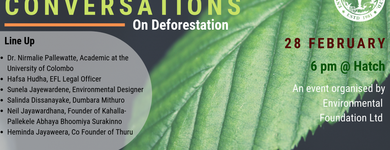 Green Conversations 2- Deforestation