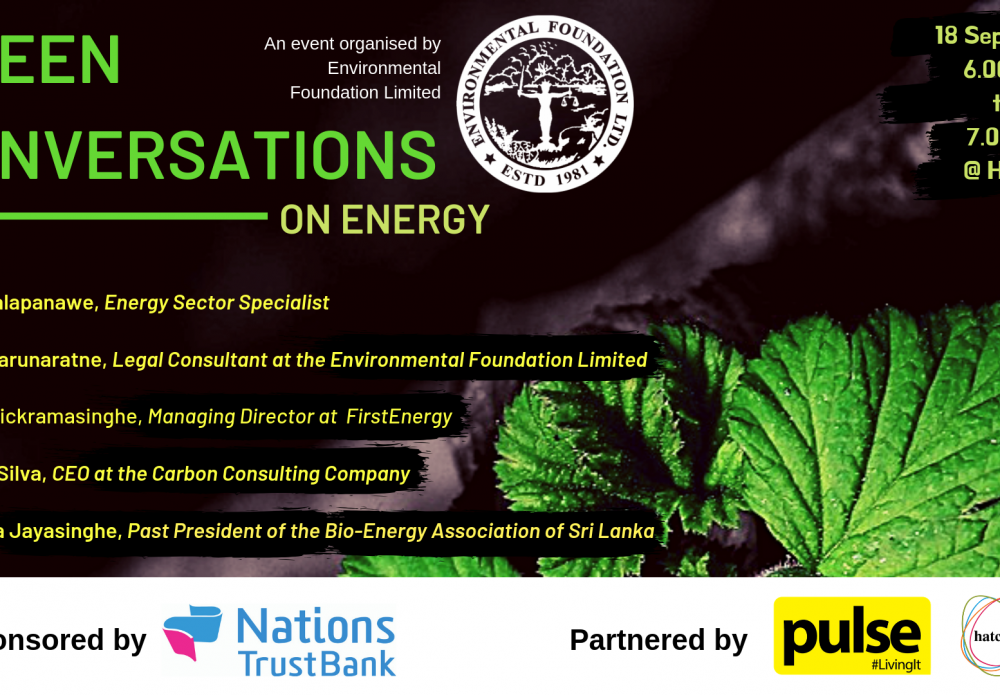 Green Conversation 4- Energy